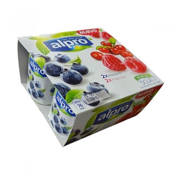 Yogurt Natural Alpro Arandanos y Frutos Rojos 4 ud.