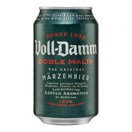 Cerveza Voll Damm 33 cl pack 24 latas