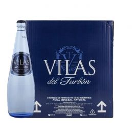 Agua mineral Vilas del Turbón 750 ml pack 6 botellas cristal