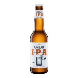 Cerveza Ambar IPA 33 cl pack 12 botellines