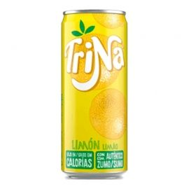 Refresco limón sin gas Trina 33 cl pack 24 latas