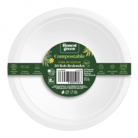 Bol desechable compostable 350 ml Honest Green 25 ud